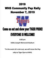 Community Pep Rally FLyer